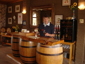 gp Tony Thorogood in the tasting room